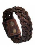 Stoere Gevlochten Snap Armband