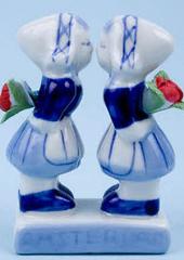 Delftsblauw Kissing Girls