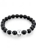 SkullArmband.zwart