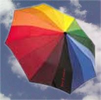 Regenboogparaplu