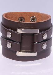 Mc Riven Desert Girl Lederen Armband Bruin
